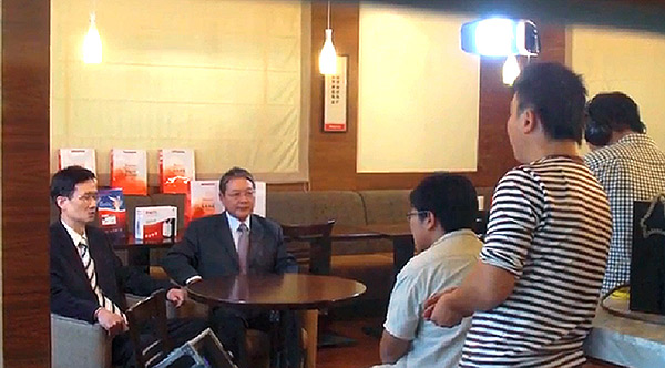 CEO & Chairman Interviewed by TV.