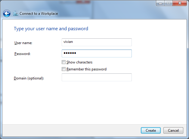 8.Username and Password